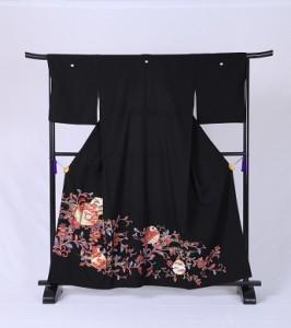 【更紗・赤蔦と金箔花紋】